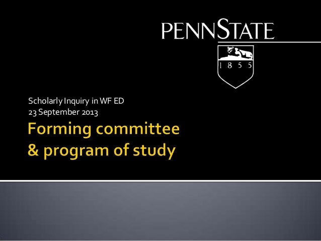 Scholarly Inquiry inWF ED 23 September 2013