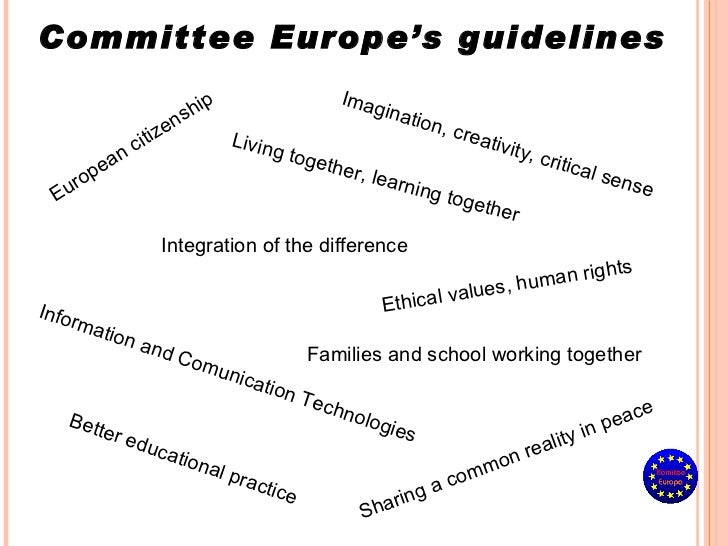 European citizenship Better educational practice Integration of the difference Living together, learning together Families...