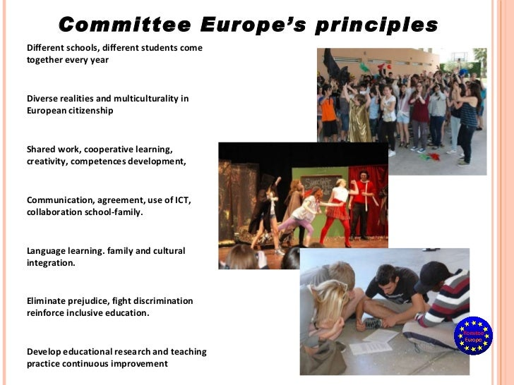 Diverse realities and multiculturality in European citizenship Different schools, different students come together every y...