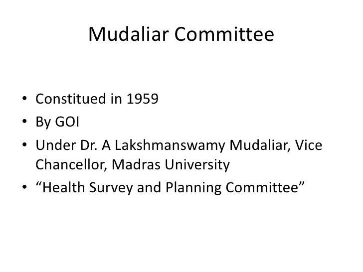 mudaliar committee