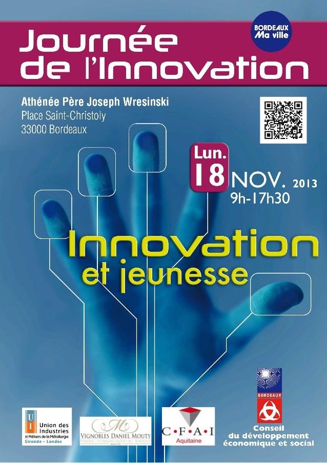 09h00  09h15 11h00  Introduction de la Journée par Jacques VALADE, Président du Conseil du Développement Économique et Soc...