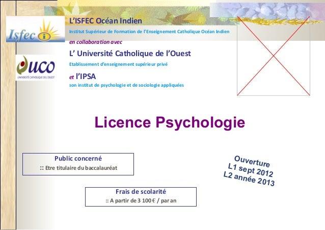 L'ISFEC Océan Indien            Institut Supérieur de Formation de l'Enseignement Catholique Océan Indien            en co...