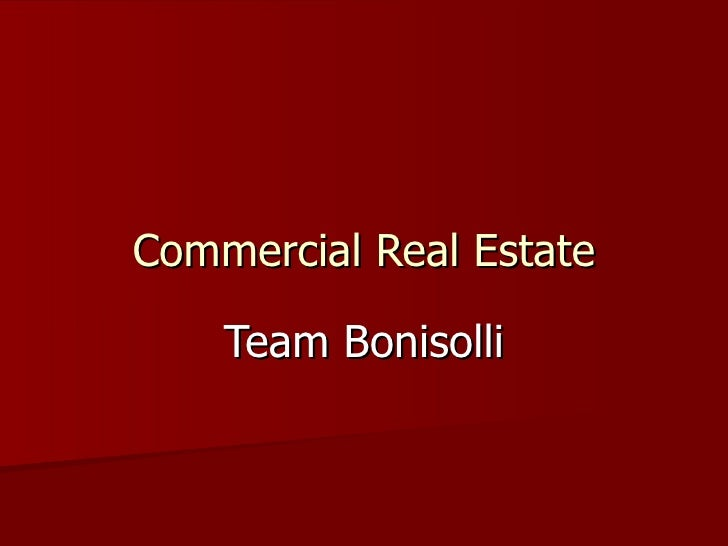 Commercial Real Estate Team Bonisolli