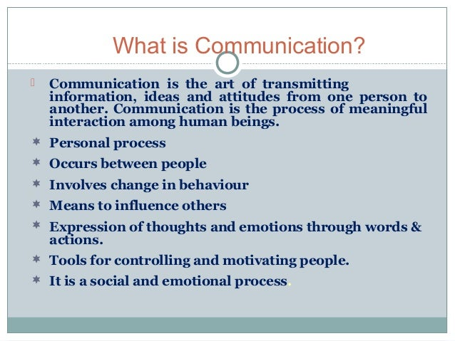 Process of communication Slide 2