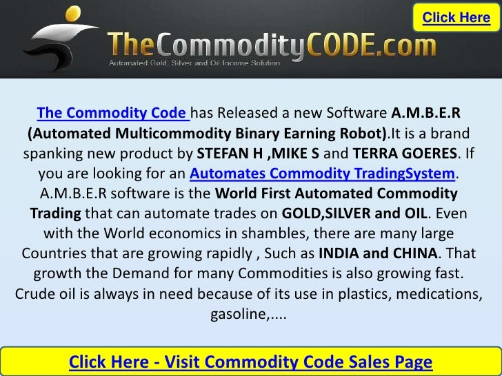 Automated Futures Trading Systems – The Commodity Code AMBER
