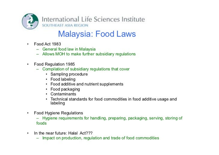 Food Hygiene Regulations  Malaysia