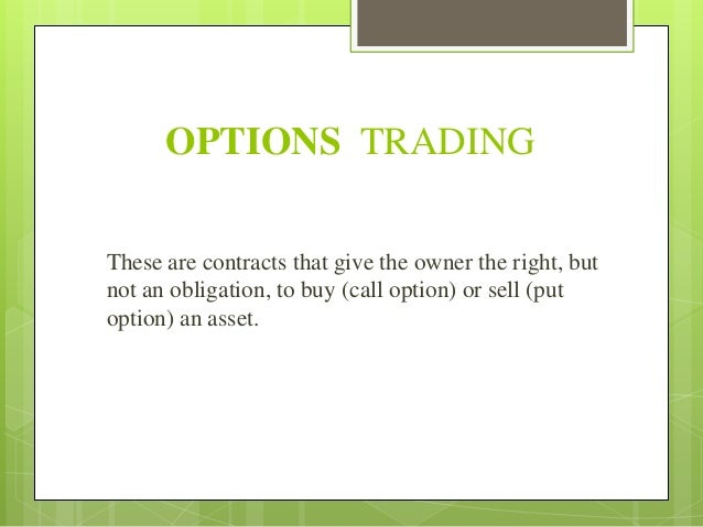 A research on derivatives future and options