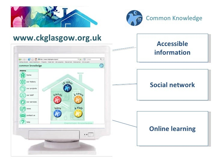Common Knowledge Accessible information Social network Online learning www.ckglasgow.org.uk