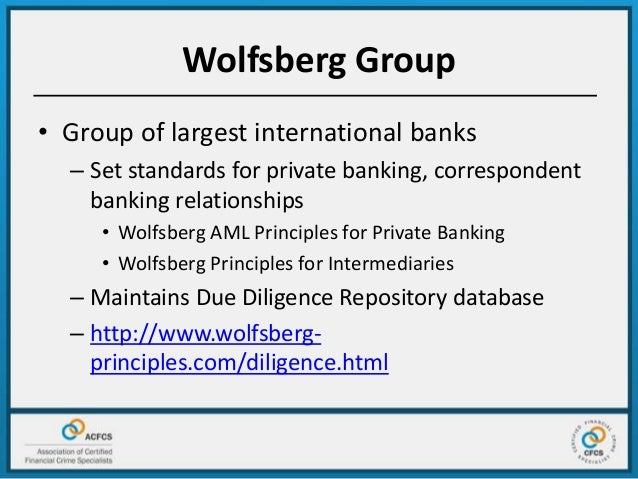 wolfsberg questionnaire for correspondent banking relationship