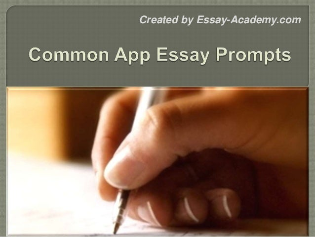 common app essay prompts created by essay academycom