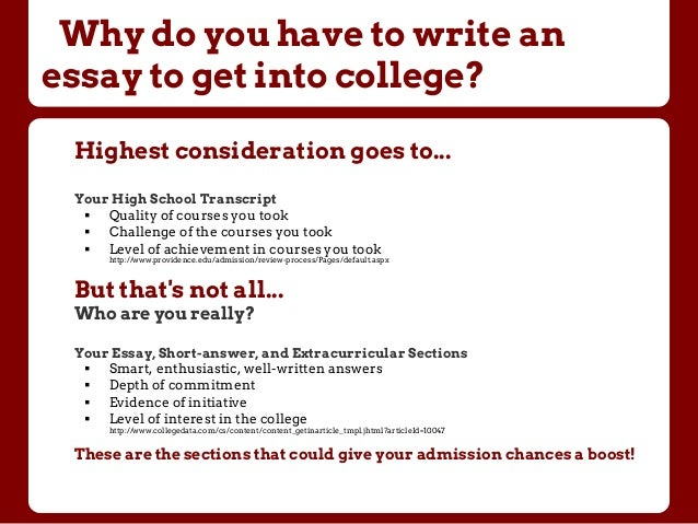 college application short answer examples