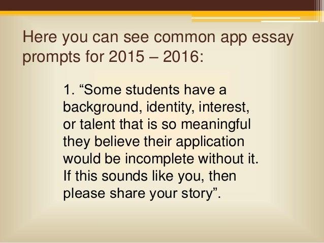 Common app essay prompts 2013