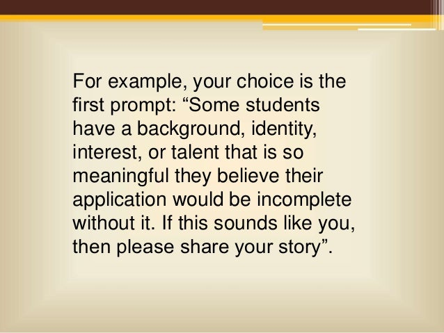 why i don t care about what the common app essay prompts are bs