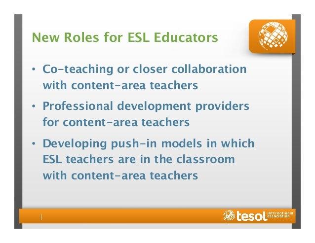 pedagogical leaders 15 new roles for esl educators - Esl Teacher Duties