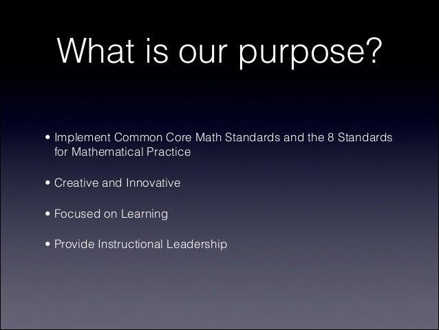 Common Core Mathematics Update Slide 3