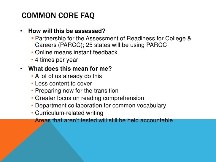 Common Core State Standards (Sept 2 2011 SIP) Slide 3