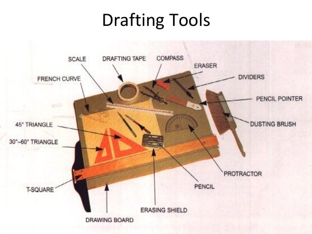 Common drafting tools and instruments for Architecture drawing tools