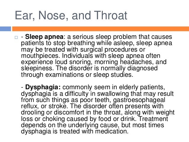 Ears Nose And Throat Problems