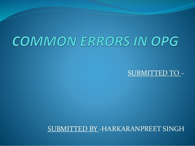 SUBMITTED TO – SUBMITTED BY -HARKARANPREET SINGH