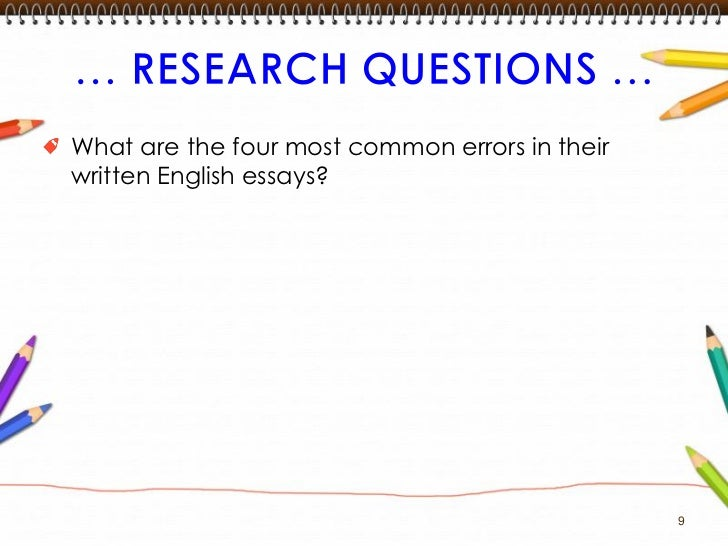 common errors in written english essays 9 9
