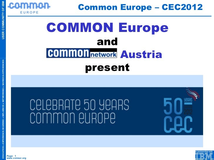 COMMON Europe and   Austria present Common Europe – CEC2012
