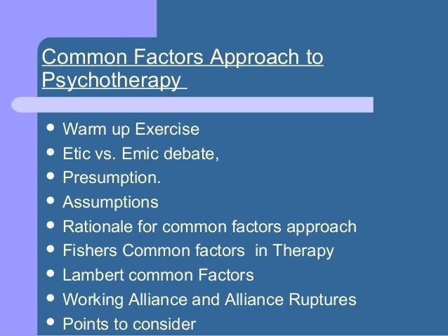 Common factors approach Slide 3