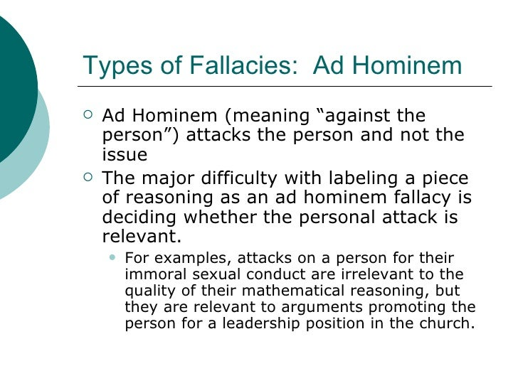 Fallacies: alphabetic list (full list)