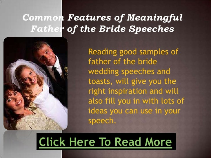 Common Features Of Meaningful Father Of The Bride Speeches