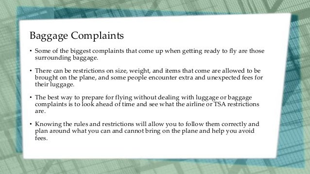 Common Flight Complaints and How to Avoid Them Slide 2