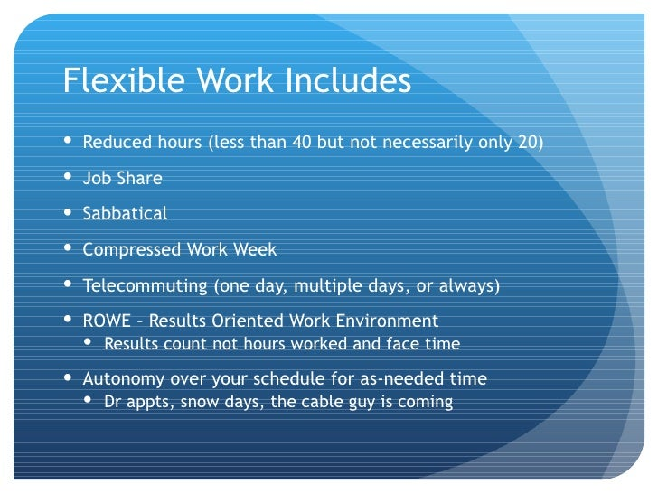 flexibility in the workplace