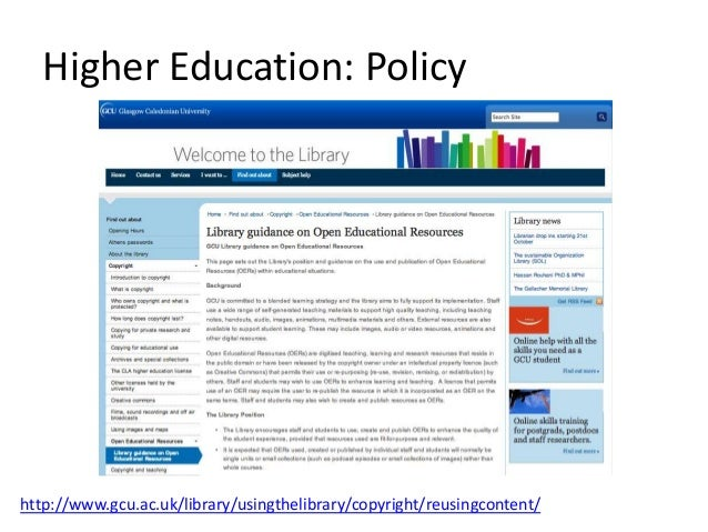 Higher Education: Research http://www.gcu.ac.uk/academy/current/exploerer/