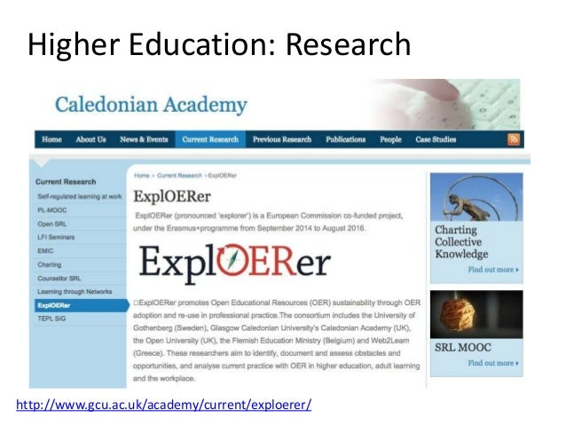 Higher Education: MOOCs https://www.coursera.org/edinburgh
