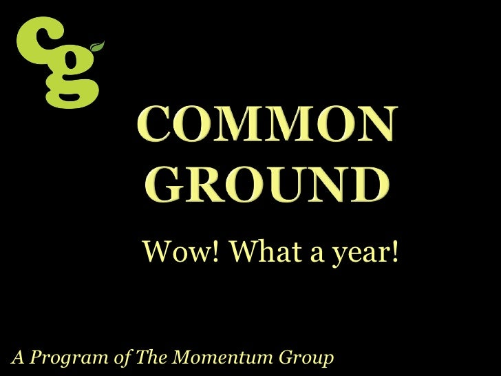 Wow! What a year!   A Program of The Momentum Group
