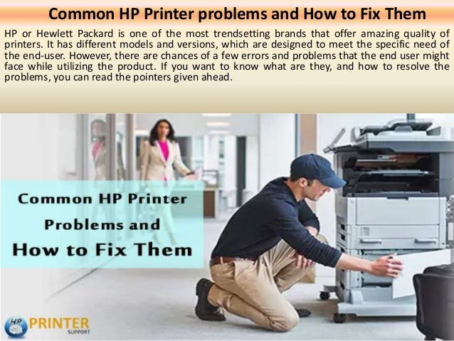 Common hp printer problems and how to fix them