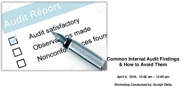 Common internal audit findings & how to avoid them