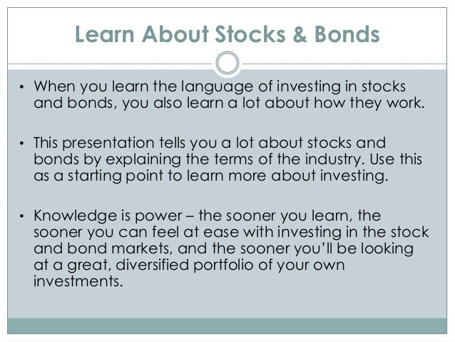 Learn About Stocks and Bonds Investing in Free Online ...