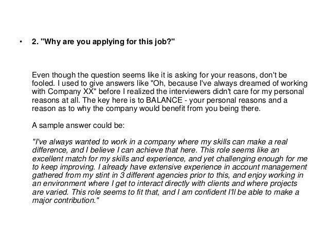 Common job interview questions fresh graduates should