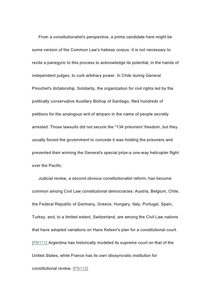 constitutional response essay