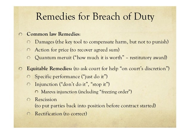Contracts & Common Law: Breach Remedies & Claims Defence - Natalia Pe…