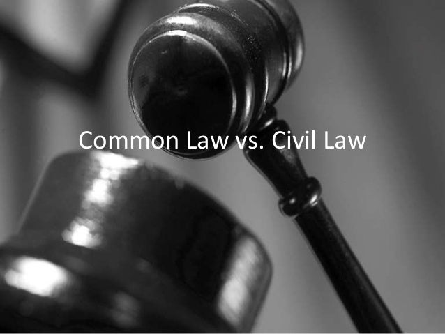 Common Law vs. Civil Law