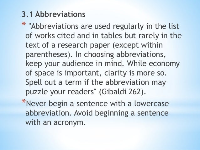 using abbreviations in research papers 2013-11-04 but while well-presented tables and figures in research papers can efficiently  this article presents some essential guidelines to the effective use of tables and figures in  abbreviations, group names.