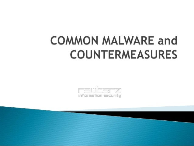 MALWARE (Malicious-Software) Ask yourself this. This power point presentation is named malware. Did you run a scan on it b...