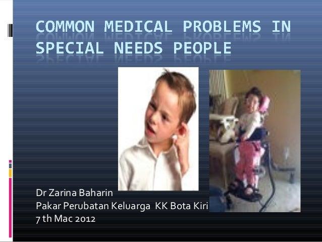 Dr Zarina Baharin Pakar Perubatan Keluarga KK Bota Kiri 7 th Mac 2012