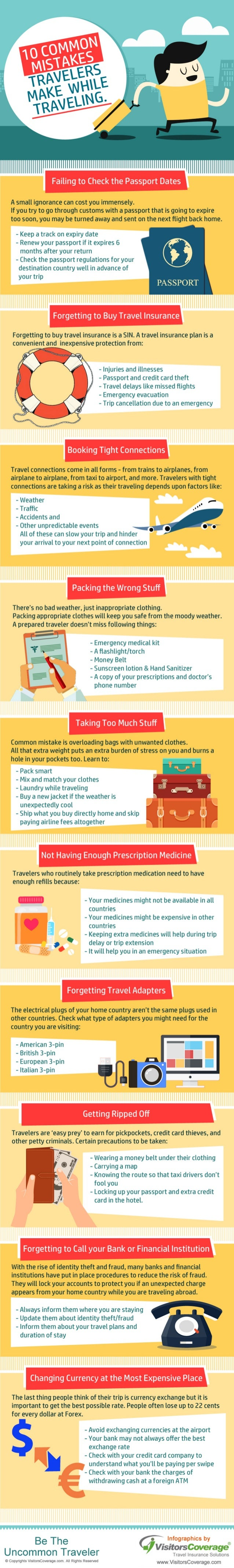Common Mistakes Travelers Make