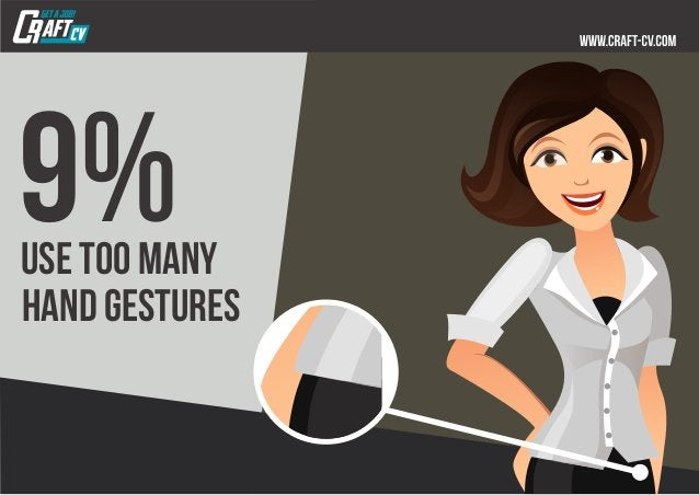 9%use too many hand gestures