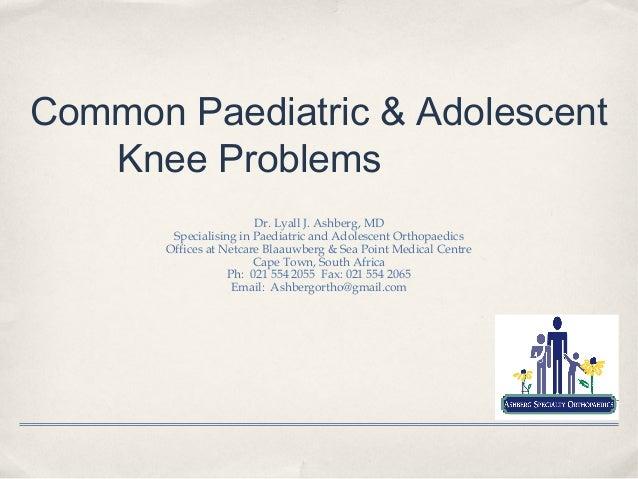 Common Paediatric and Adolescent Knee Problems