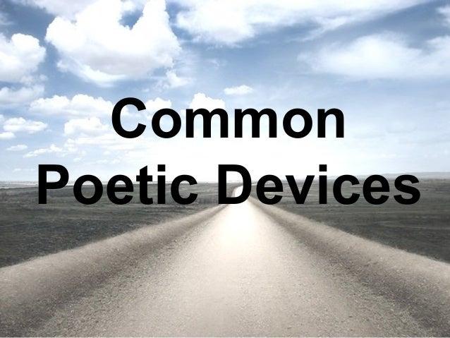 Common  Poetic Devices