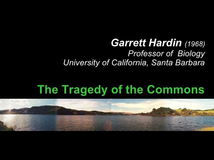 garrett hardin s tragedy of the