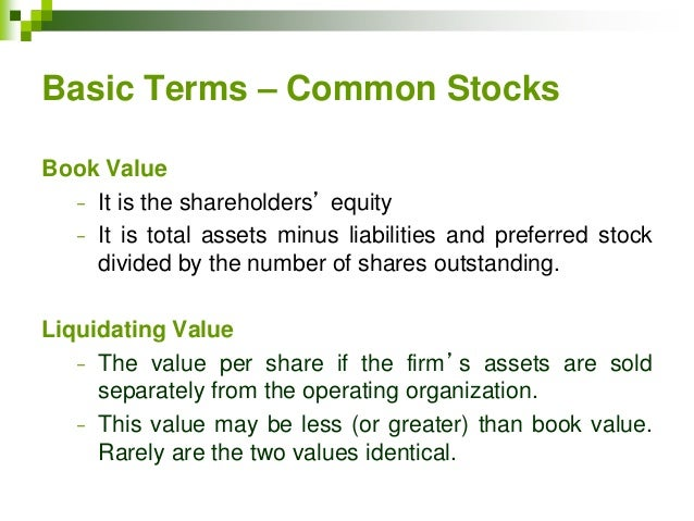 preferred stock and common stock What's the difference between common stock and preferred stock corporations can offer two classes of stock: common and preferred preferred and common stocks differ in their financial terms and voting/governance rights in the company a share (also referred to as equity shares) of stock represents a share of.
