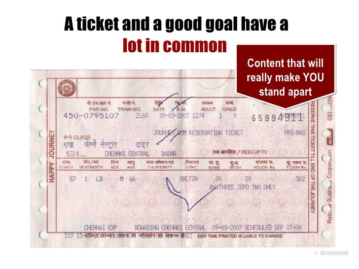 A ticket and a good goal have a lot in common  Content that will really make YOU stand apart
